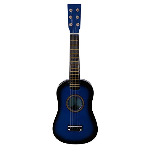 YZG LIFE 23'' Wood Guitar for kid, 6 Strings Acoustic Guitar with Pick and String Set, Musical Instrument Guitar Toy for Beginners Kids Boys Girls, Blue