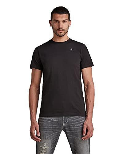G-STAR RAW Base-s r t s/s Camiseta, Negro (Dk Black 336-6484), L para Hombre