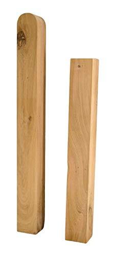 Hilmo - Holzpfosten Pfosten Zaunpfahl Kantholz Eiche 7 x 7 cm, 9 x 9 cm, 10 x 10 cm, 12 x 12 cm (Pfosten Eckig, 9 x 9 cm, Länge: 120 cm)