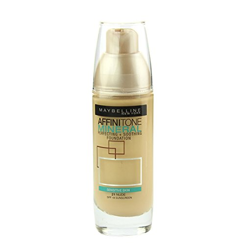 Maybelline affinitone Mineral Perfecting + Soothing Fond de teint SPF 18 (21 Nude) 30 ml