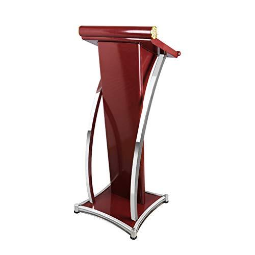 YzDnF Podium-Kanzel-Lektoren Edelstahl Spritzen VortragspoDium - Hochleistungs-Podium-Easy-Montage Stand auftragen (Color : Red, Size : 49x49x117cm)