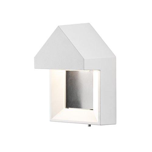 Konstsmide 7958–250 en métal Cosenza LED Haute Puissance Easy Fit Applique Murale, Blanc Mat Parent Blanc Mat