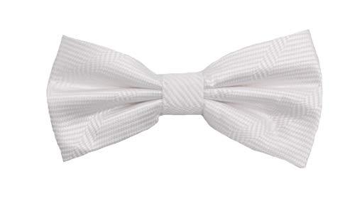 Fabio Farini - Elégant nœud papillon à carreaux pour hommes pour toutes les occasions comme le mariage, la confirmation, le bal Blanc
