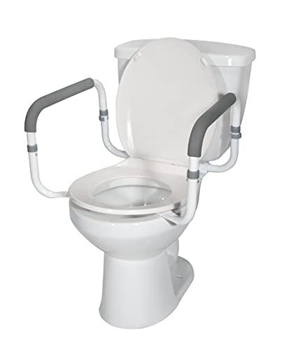 Drive Medical RTL12087 Handicap Grab Bar for Toilets, White