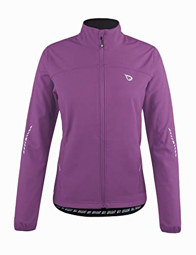 BALEAF Women's Windproof Thermal Softshell Cycling Running Winter Jacket Purple Size XL