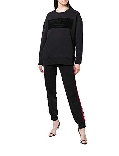 Versace Jeans Sudadera para mujer B6HSB76430162899 M SDM303 3 Flock negro 899