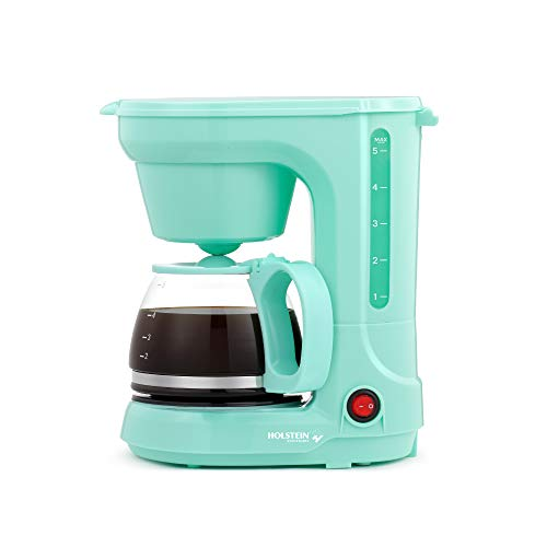 Holstein Housewares HH-0914701I 5-Cup Coffee Maker, Mint