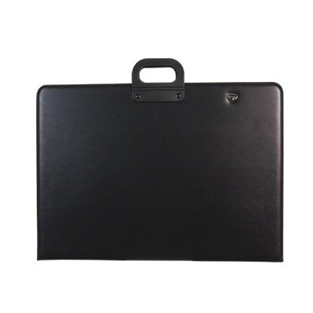 Ausweishülle Q-schwarzer Griff mit Reißverschluss DIN A2420x 594mm