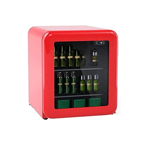 GJHK Refrigerador cosmético portátil, cosméticos de belleza mini refrigerador retro, pequeño refrigerador del hogar para el coche, rojo