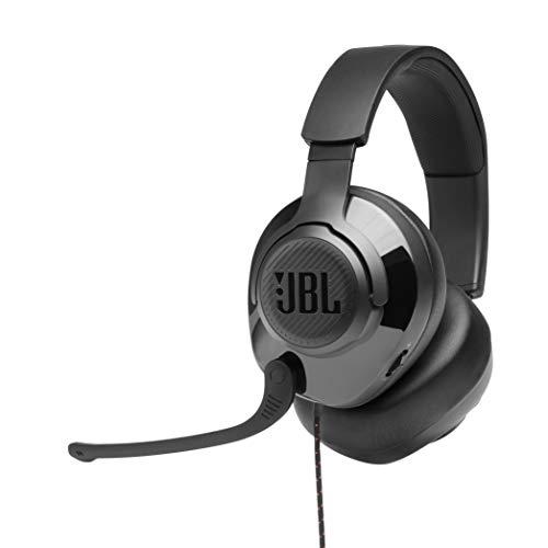 JBL Quantum 300 – Fones de ouvido para jogos circum-auriculares com software JBL Quantum Engine – Preto
