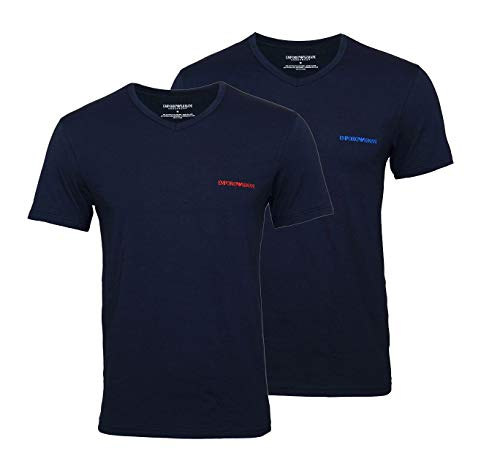 Emporio Armani 2er Pack T-Shirts V-Ausschnitt 111849 9P717 27435 Marine/Marine (M)