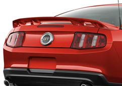 Accent Spoilers - Spoiler for a Ford Mustang Factory Style 4-Post Spoiler-Red Candy Paint Code: U6