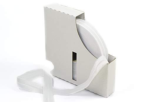 Matsa Bordatura piegata, nastro elastico sbieco (19mm) presentato in scatola con 20 metri 2 X 5 m bianco