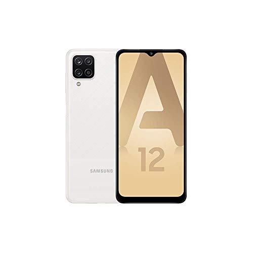 Samsung Galaxy A12 4G – Blanc - 64GB - Smartphone Android débloqué - Version Française - Ecouteurs Inclus