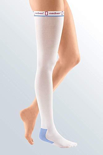 Calze Medi Autoreggenti Antitrombo bianche Taglia M-X (1paio) Circonf. Caviglia 23-25, circonf. coscia 64-80