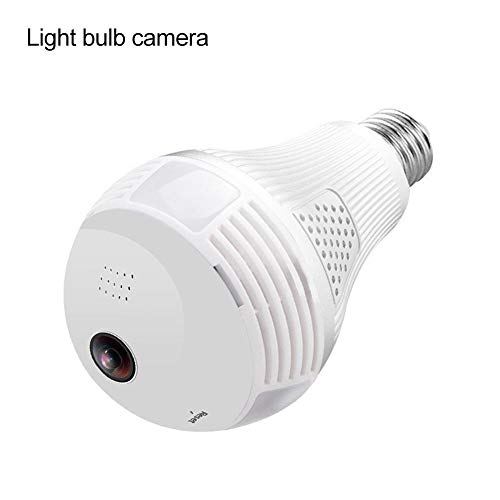 Harwls HD WiFi Bulb IP Camera 360 graden panoramic Home Security LED Light Motion Detection