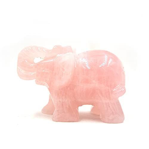 Rosa cuarzo elefante estatua estatua cocina guardián sanación estatuilla decoración rosa cuarzo elefante cristal escultura estatua curación reiki bolsillo piedras preciosas figuras artesanía