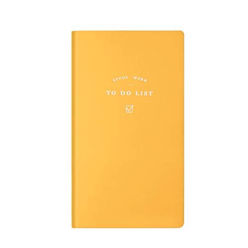 zhichy Cuero de la PU para hacer la lista del cuaderno de horario diario semanal planificador bloc de notas escolar suministros de oficina