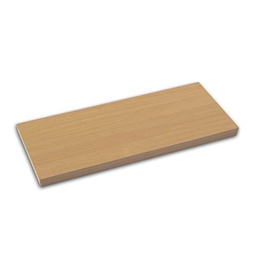 Element System 10771-01020 STANDARD Holz-Regalboden 19 mm, verschiedene Längen, Weiß, Buche, Eichetrüffel, Walnuss, Lärche, 800x200 mm