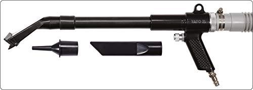 YATO professionele perslucht stofzuiger, ergonomische handgreep, lichte aluminium uitvoering, complete set met verschillende mondstukken, zuigslang, zak enz. kruimeldief stofzuiger