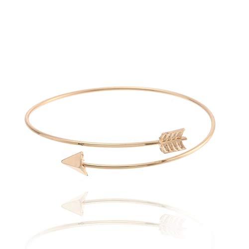 Fnito Armband Trendy Armband Pfeil Armreif für Frauen Pfeilspitze verstellbare Armbänder & Armreifen Hochzeitsgeschenk