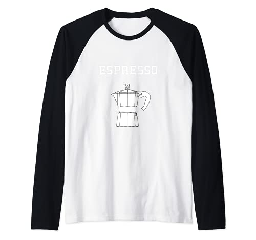 Camiseta Cafetera Italiana Vintage Retro Mujeres Hombres Camiseta Manga Raglan