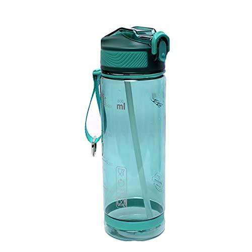 Botella Deportiva Capacidad de Gran Capacidad Duckbill Taza Adulta Plastico a Prueba de Fugas Free Portable Fitness Botella de Agua Green