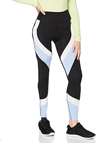 Aurique Leggings deportivos para Mujer, Negro (Black/Serenity/White), M