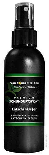 """(11,30€/100ml) Premium Schuhdeo Schuhduft Spray""""Latschenkiefer"""" 150ml • Mit natürlichem ätherischen Latschenkieferöl - ohne Alkohol. Langanhaltend, Intensiv, Geruchsneutralisierend, Wohlduftend."""