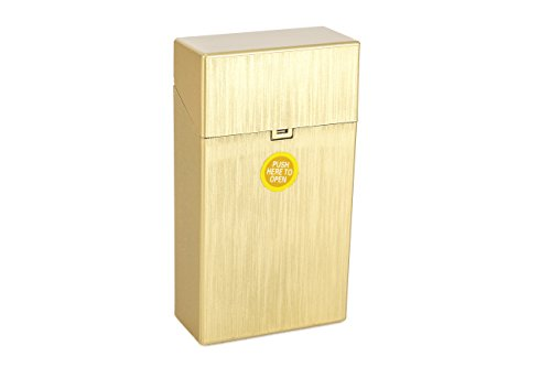 MACEMARO TRADING ZIGARETTENBOX für 20er / 100mm Zigarettenschachteln (Gold)