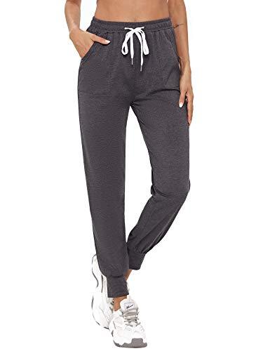 Abollria Pantalon Jogging Femme, Pantalon de Sport Femme Léger Confortable et Agréable à Porter Idéal pour Sport Yoga
