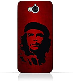 Huawei Y6 2017 TPU Silicone Case with Che Guevara Silhouette Pattern