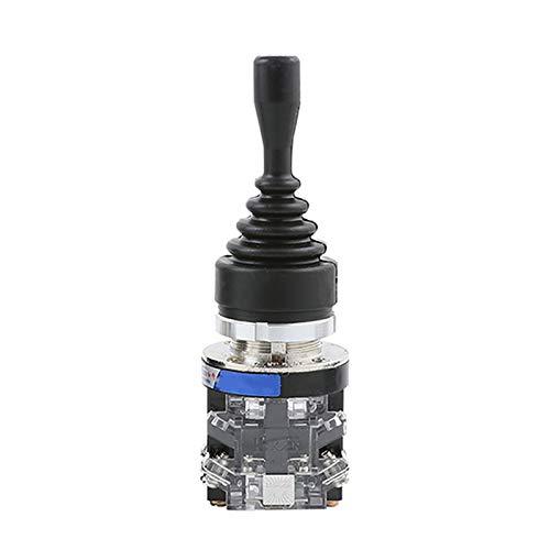 Interruptor de palanca de mando, resorte de retorno Joy Stick interruptor con orificio de montaje diámetro 30 mm para campo de automatización y seguridad (2 posiciones momentáneas)