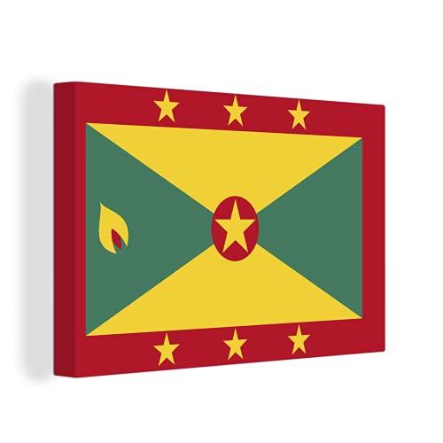 Leinwandbild - Flagge von Grenada - 150x100 cm