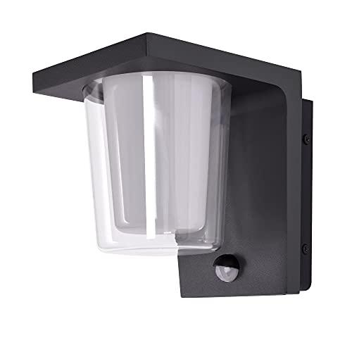 LED Aussenleuchten Bewegungsmelder Wandleuchte Wandlampe Flurleuchte 13,5W schwarz modern IP44 18204A1 UMAX