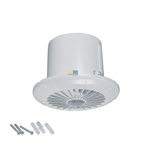 LUTH Premium Profi Onderdelen Woonkamer ventilator 100erR wit met kogellager Timer voor plafond badkamer toilet etc