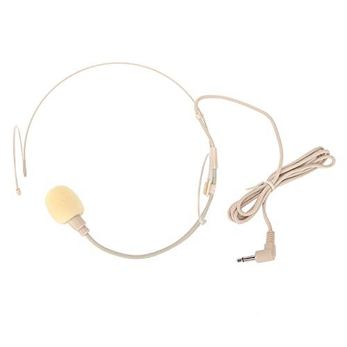 Micrófono montado en la Cabeza, EY-528 Micrófono Tipo Diadema montado en la Cabeza Auriculares de un Solo oído para Graves Pesados con Bloqueo de Rosca