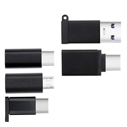 Create Idea 5 Stück USB Geräte auf Typ C Geräte Kabel Lade- und Datentransfer-Stecker Verschiedene USB-C Adapter