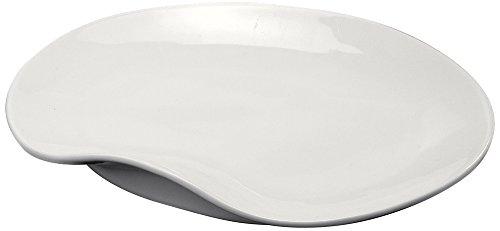 Deagourmet Vassoio Rotondo, Porcellana, Bianco, 18,7x18,5x3 cm