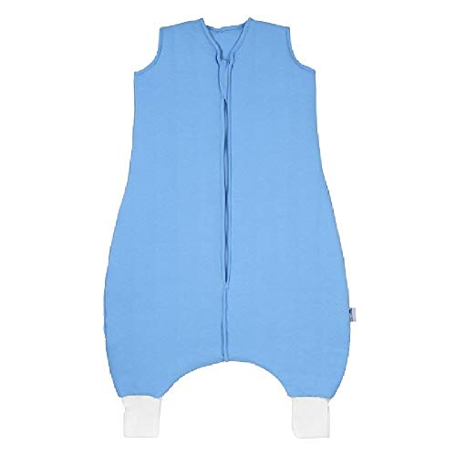 Schlummersack Schlafsack mit Füßen in 2.5 Tog fürs ganze Jahr - Blau - 110cm für eine Körpergröße von 110 bis 120 cm