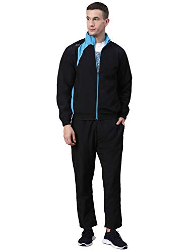 DIDA Men's Micro Polyester Sports Track Suit for Running/Jogging (Black, M)