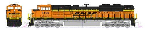 N EMD SD70ACe Nose Headlight - BNSF #8527
