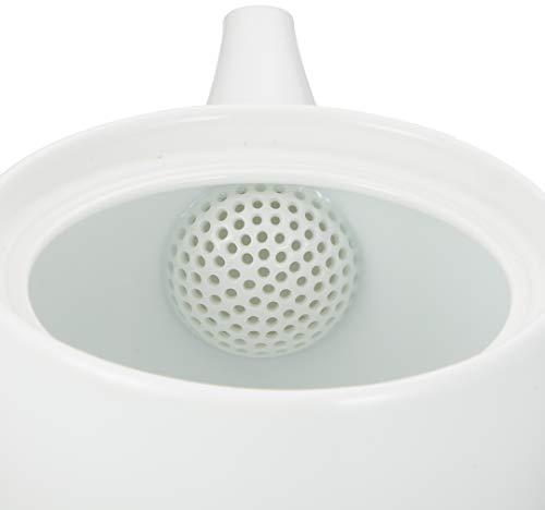 白山陶器急須右手用白磁(約)φ10.5×9.5cm400ml茶和SAWA波佐見焼日本製