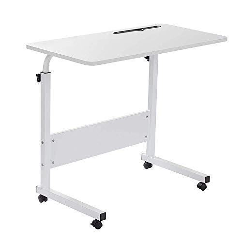 Iwinna 80 * 40cm Adjustable Laptop Standing Table Desk for Bed, Breakfast Bed Laptop Lap Desk Serving Coffee Notebook Stand Holder