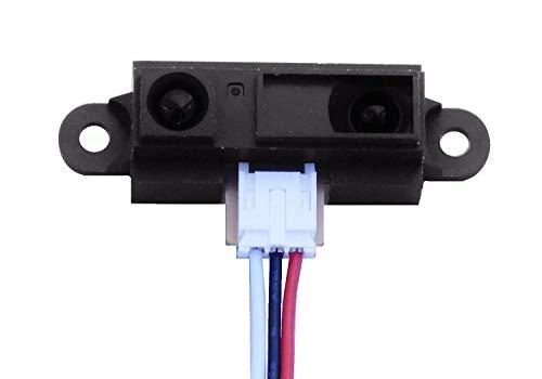 ARCELI GP2Y0A21YK0F Sharp IR Analoger Abstandssensor 10-80cm + Kabel, Arduino-kompatibel