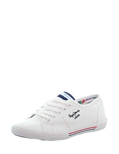 Pepe Jeans ABERLADY ECOBASS, Zapatillas Mujer, 800 Blanco, 37 EU