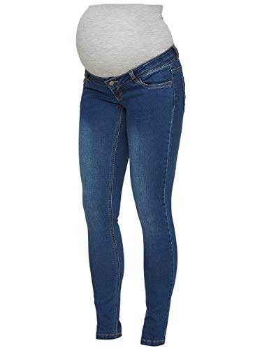 MAMALICIOUS Mama Licious Female Umstandsjeans Slim Fit 3334Blue Denim