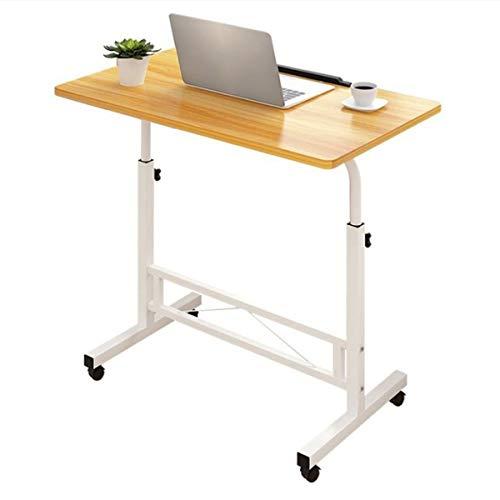 mesita Mesa de sofá, Escritorio para computadora portátil Multiusos, para computadoras portátiles Ajustables Escritorio Grande (Color : Peach)