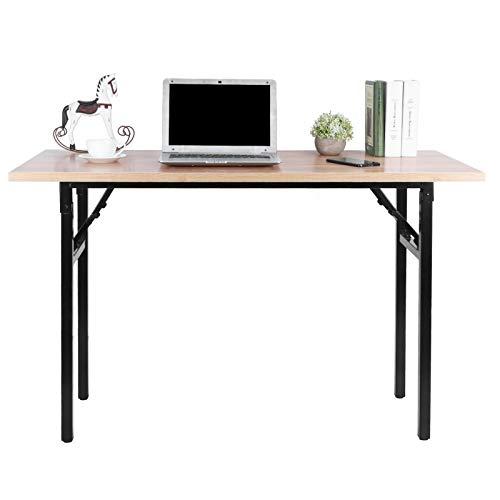 Wakects Escritorio de estilo industrial para ordenador, longitud ajustable de 1 a 2 cm, diseño de pie de mesa, mesa portátil para oficina