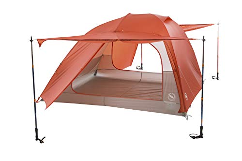 Big Agnes Copper Spur HV UL Backpacking Tent, 4 Person (Orange)